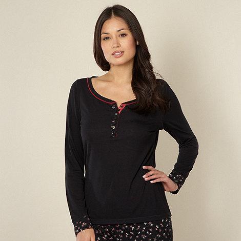 RJR.John Rocha - Designer black long sleeve pyjama top