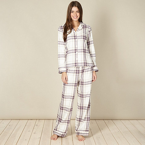 RJR.John Rocha - Designer cream checked pyjama set