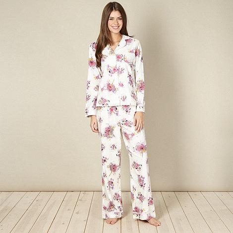 RJR.John Rocha - Designer cream floral pyjama set