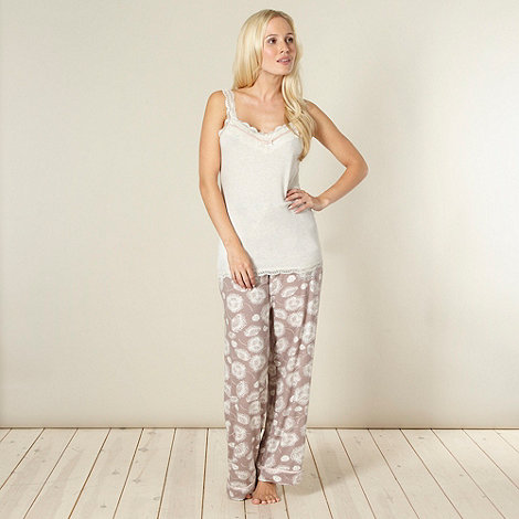 RJR.John Rocha - Designer light brown printed pyjama set