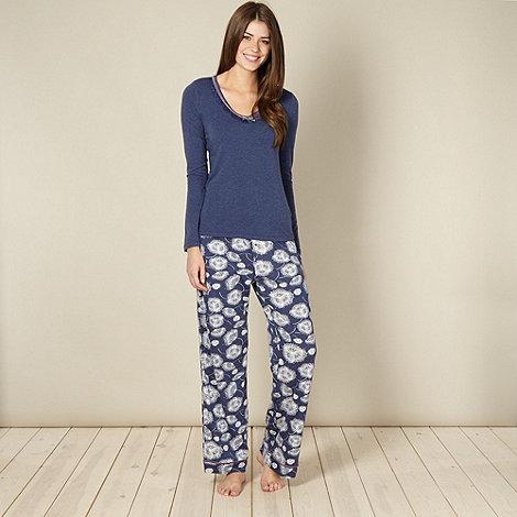 RJR.John Rocha - Designer navy pattern pyjama set