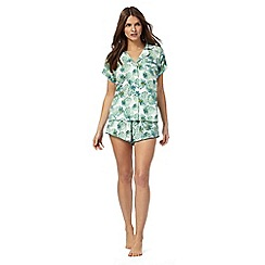 Lounge & Sleep - Green leaf print pyjama set