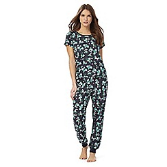 Lounge & Sleep - Navy watermelon print pyjama set