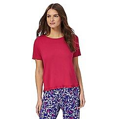 Lounge & Sleep - Red 'maria' peplum top