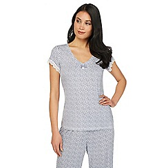 J by Jasper Conran - Blue printed pyjama top