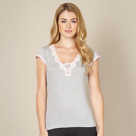 Floozie by Frost French - Designer grey plain jersey pyjama top
