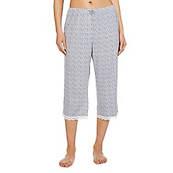 J by Jasper Conran - Blue printed pyjama bottoms