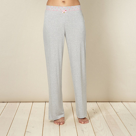 Floozie by Frost French - Designer grey plain jersey pyjama bottoms