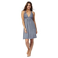 J by Jasper Conran - Blue lace trim chemise