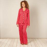 Designer red heart pyjama set