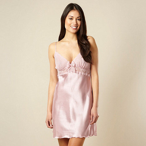Presence - Pale pink satin lace cup chemise
