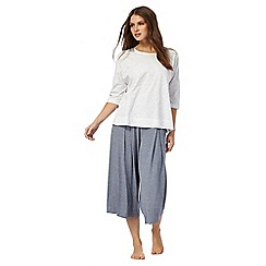 J by Jasper Conran - Blue and white top and culotte set