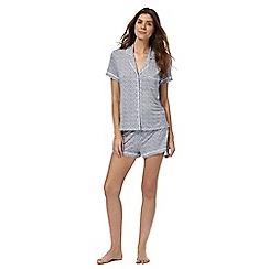 J by Jasper Conran - Blue printed pyjama set