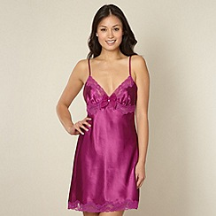 Presence - Purple satin bow chemise