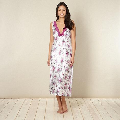 Presence - Purple floral satin nightdress