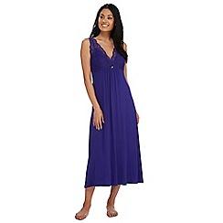 The Collection - Purple 'Goddess' lace long night dress