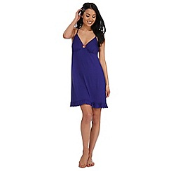 The Collection - Purple 'Goddess' plain padded cup night dress