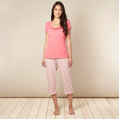 Presence - Dark peach cropped pyjama set