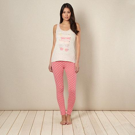 Presence - Pink sunglasses printed pyjama set