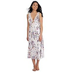 The Collection - Multi-coloured 'Goddess' print long night dress