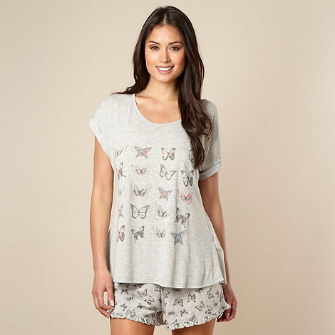 Presence - Grey butterfly printed pyjama set