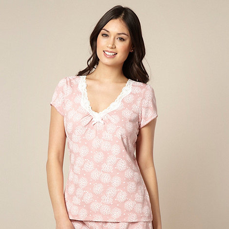 Presence - Light pink butterfly print pyjama top