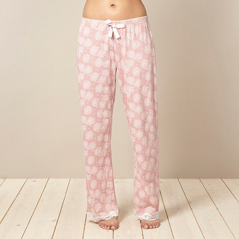 Presence - Light pink butterfly print pyjama bottoms
