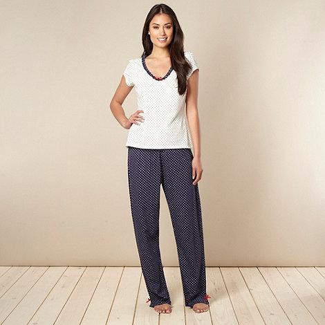 Presence - Navy spotted pyjama set