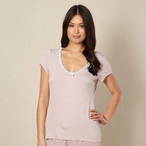Lounge & Sleep - Pink striped pyjama top
