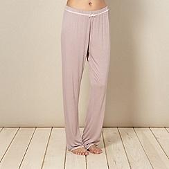 Lounge & Sleep - Light pink lace trim pyjama bottoms