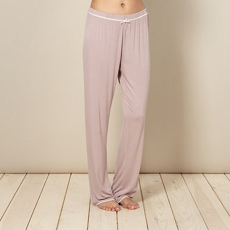Lounge & Sleep - Light pink lace trim pyjama bottoms