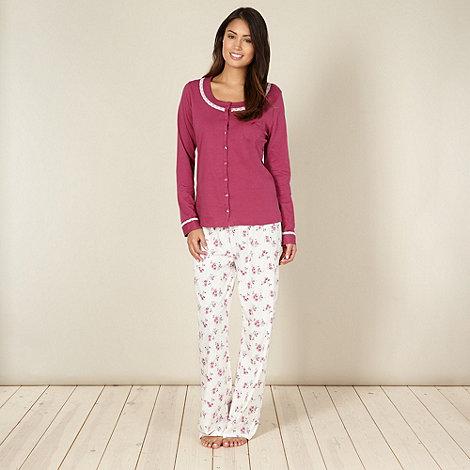 Classics - Dark pink floral pyjama set