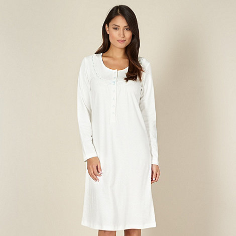 Debenhams Classics - White spotted jersey night dress