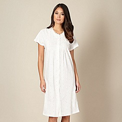 Classics - White spotted pintuck pleated night dress