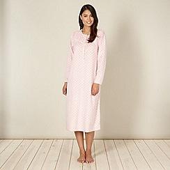 Classics - Pink spotted fleece night dress