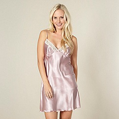 Presence - Light pink satin chemise