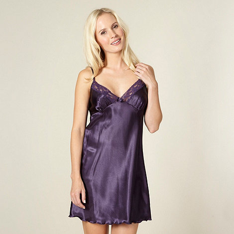 Presence - Purple satin chemise