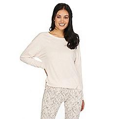 Iris & Edie - Light pink 'Work it' long sleeve crop pyjama top