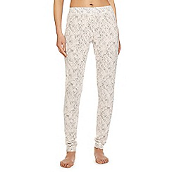 Iris & Edie - Light pink 'Work it' diamond print pyjama bottoms