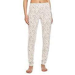 Iris & Edie - Light pink 'Work it' diamond print pyjama bottoms