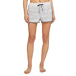 Iris & Edie - Grey 'Work it' striped pyjama shorts