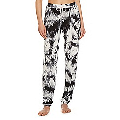 Iris & Edie - Grey 'Work it' tie dye pyjama bottoms