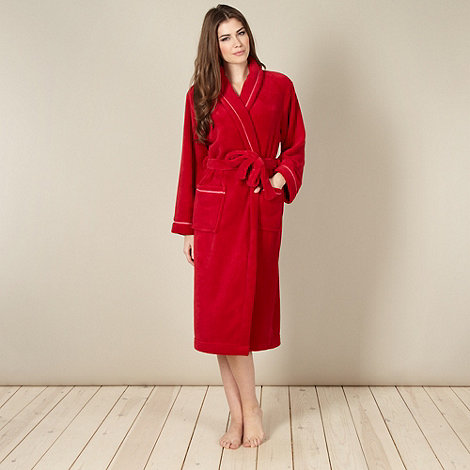 Lounge & Sleep - Online exclusive red stitch lined dressing gown