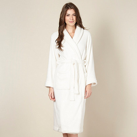 Lounge & Sleep - Online exclusive cream fleece dressing gown