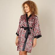 Online exclusive designer dark red spotted satin wrap