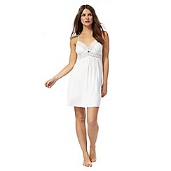 J by Jasper Conran - White lace trim chemise
