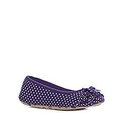 Lounge & Sleep - Purple ballerina slippers