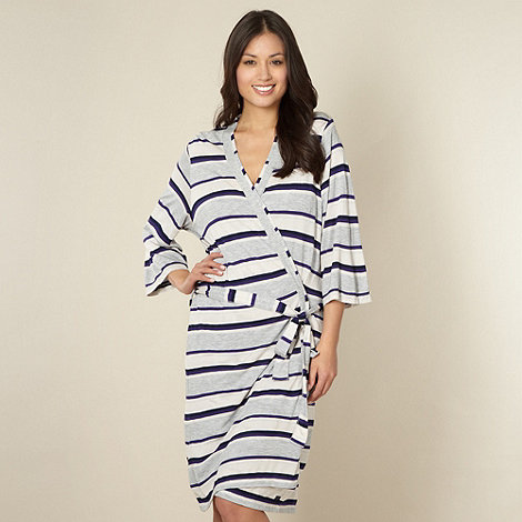 J by Jasper Conran - Designer grey striped wrap