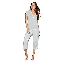 J by Jasper Conran - Grey printed 'Dreamscape' pyjama bottoms