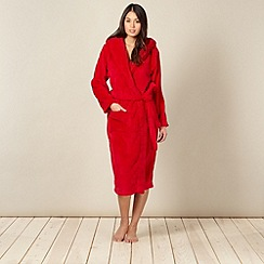 J by Jasper Conran - Designer red hooded dressing gown